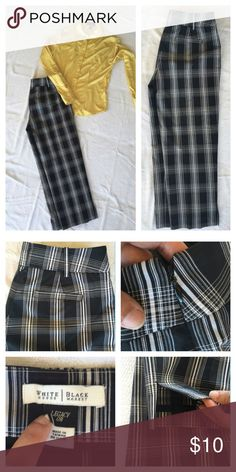 WHBM crop dress pants These are in EUC with exception that button is missing at the top of the side zip- Not Visible or necessary! Zip closure works fine. Pairs great with yellow/gold Anne Klein too. White House Black Market Pants Ankle & Cropped