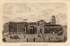 Königsberg (Pr.), Schloß mit Hauptwache, Lithograhie II - 1880-1900