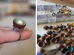 hello hydrangea: Acorn Ring