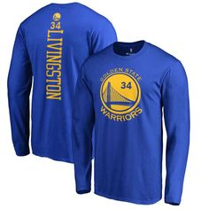 Shaun Livingston Golden State Warriors Backer Long Sleeve T-Shirt - Royal  Nba d65608f8a