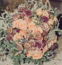 Vintage inspired bridal bouquet by Adele Brown www.tincanfloral.co.uk