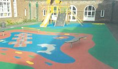 Playground Surface Installations From The 1990s  #Playgrounds #Throwback #90s #SafetySurfacing #WetPour #Flashback #PlaygroundSurfacing