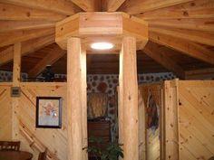 Model tavan confectionat din grinzi de lemn