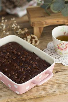 Brownie saludable Healthy Brownies, Dog Bowls, Muffins, Food And Drink, Menu, Pudding, Cookies, Breakfast, Baking