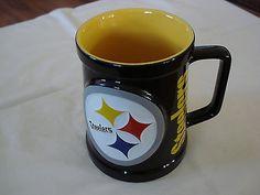Pittsburg Steelers NFL 3D Raised Logo Coffee Cup Mug