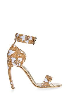 Printed Cork Sandals by Nicholas Kirkwood Now Available on Moda Operandi