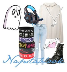 """""""Napstablook [Undertale]"""" by actual-sinnamonrol ❤ liked on Polyvore featuring Base Range, New Look, Reactor, Belk & Co., CTRL and Bling Jewelry"""