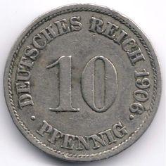 Germany 10 Pfennig 1906 J Veiling in de Duitsland,Europa (niet of voor €),Munten,Munten & Banknota's Categorie op eBid België | 144350782
