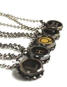 Typewriter Key Pendant from @juNxtaposition, $20 each
