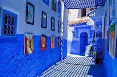 In the northern part of Morocco, 110 kilometers southwest of Tangier, in the heart of the Rif mountain range, lies the charming little town of Chefchaouen.