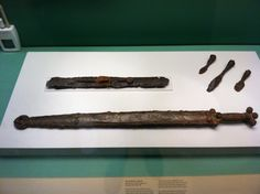 Kirkburn Sword, East Yorkshire, buried circa BCE, Britain, British Museum (note Celtic patterned imagery on decorated sheath Celtic Sword, Viking Sword, East Yorkshire, Iron Age, Prehistory, British Museum, Archaeology, Antiquities, Swords