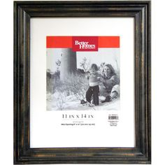Better Homes and Gardens Distressed 11x14 Picture Frame, Black.    $14.97