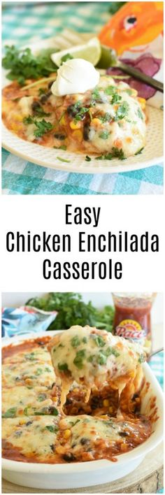 Easy Chicken Enchilada Casserole is a quick and easy weeknight meal. This will be a terrific dish as you plan back-to-school recipes.