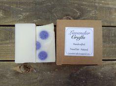 This is my handy unscented soap and shampoo travel set. It includes half a bar of soap and half a bar shampoo.  #HandmadeInMyKitchen #ForTheLoveOfLavender #LavenderCraftsKilcoole #LavenderCrafts #HandmadeInKilcoole #AllNaturalIngredients #EcoFriendly #PalmOilFree