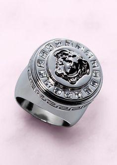 """Versace...YUM!  """"Icon"""" Medusa Ring"""
