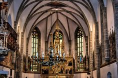 Interior of church in Kezmarok by Milan Cernak Hdr, Milan, Interior, Indoor, Interiors