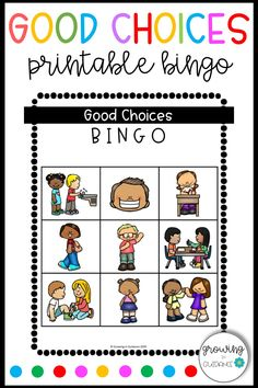 Good Choices BINGO is an easy and fun way to reinforce conflict resolution strategies with your PreK, Kindergarten, 1st, and 2nd grade students! This game is fully planned and ready to print-and go, making it the perfect addition to your back-to-school plans! Classroom Expectations, Classroom Rules, Elementary School Counselor, School Counseling, Classroom Newsletter, Behavior Interventions, Classroom Management Tips, School Plan, Counseling Activities