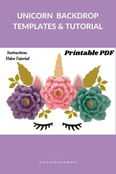 Are you looking for paper flower printable templates to make this unicorn paper flowers wall? Click through to find their templates and tutorials!!! #paperflowerprintabletemplates #paperflowersprintable #unicornpaperflowers #paperflowerswall #flowertemplateprintable #paperflowerstutorial Paper Flower Templates Pdf, Paper Flower Patterns, Easy Paper Flowers, Paper Flower Wall, Paper Flower Tutorial, Flower Center, My Flower, Printable Templates, Printables