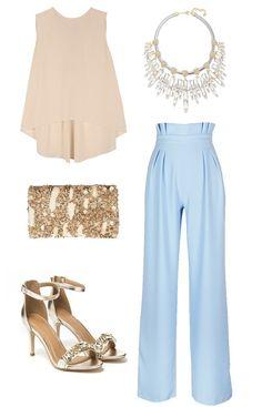 Look para invitada a bodas de 2015 con pantalón palazzo