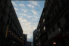 Nights/ Blue Perfect Skies/ Gran Via Madrid, Multi Story Building, Sky, Night, Blue, Heaven, Heavens