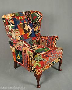 Wing Chair Furniture Lahore luxuriöse orient kelim sessel sofa couch stool kilim chair
