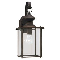 Sea Gull Lighting 8458-71 Jamestowne 1 Light 17 inch Antique Bronze Outdoor Wall Lantern