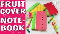 The DIY Notebooks by hands. Make the notepad as the fruit watermelon amd strawberry and peanapple. So summer notepad tutorial.