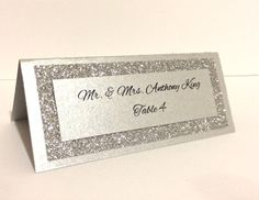 Wedding Place Cards Wedding Escort Cards Silver by Lovelytations