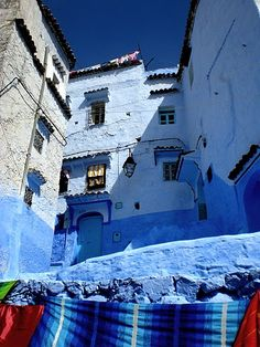 Chechaouene, Morocco Blue City, Tangier, Amazing Places, Middle East, The Good Place, Blues, Africa, Exterior, Colours