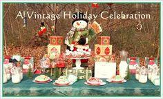 Dessert Table: A Vintage Holiday Celebration