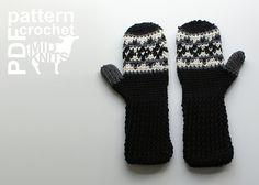 Ravelry: Fair Isle Crochet Argyle Mittens (2016006) pattern by Erin Black