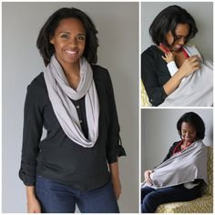 the vintage honey shop - infinity scarf that converts to a nursing cover!