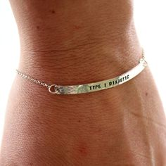 Bracelet Sterling Silver or Gold Medical Alert ID Bracelet