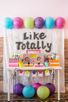"""""""Girls Just Wanna Have Fun"""" 80's Rock & Roll Birthday Party"""