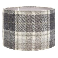 Mulholland Check Steel Drum Shade 14 Inch at Laura Ashley