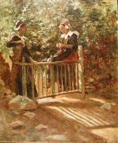 Photograph of a Breton painting by the Irish artist, Aloysius O'Kelly