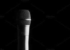 black microphone by AlexZaitsev on @creativemarket
