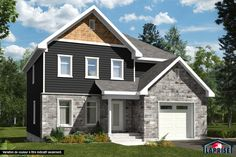 Including Wood siding on 4 sides of the house Gables: cedar shingles 3 ½ wood exterior corners White PVC doors and casement windows. Wood Siding, Exterior Siding, Concrete Front Porch, Two Story House Plans, Architectural Shingles, Archi Design, Cedar Shingles, Prefabricated Houses, Casement Windows