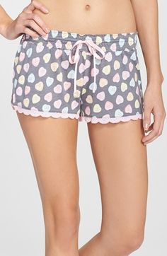 Free shipping and returns on PJ Salvage 'Candy Hearts' Shorts at Nordstrom.com. Colorful candy hearts with a variety of sweet sentiments romance cute and comfortable knit shorts finished with scalloped lace hems.