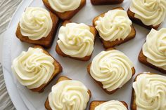 Mini Banana Cakes using Pampered Chef's Brownie Pan with Cream Cheese Frosting