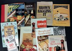 Lot Cookbook 14 Sandwich Cookbooks Brown Bag Picnic Kids Lunch  HC SC Sandwhich