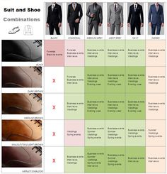 How to Match Shoes with Suit Color: Suit and Shoe Color Combinations - See more at: http://www.iamalpham.com/index.php/topics/how-to-match-shoes-with-suit-color-chart/