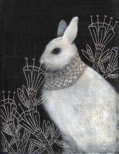 Remember me my friend Jan, who loves bunny art! Illustrators, Animal Art, Drawings, Whimsical Art, Illustration Art, Rabbit Art, Art, Bunny Art, Beautiful Art