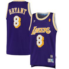 Men s Los Angeles Lakers Kobe Bryant adidas Purple Road Hardwood Classics Swingman  Jersey 720b18aef