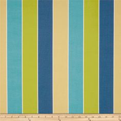 Tempo Indoor/Outdoor Stripe Blue/Green- fabric for Connor's room.