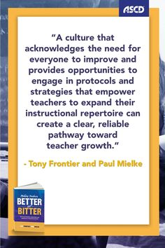 Providing insight and inspiration, Making Teachers Better, Not Bitter paves a clear path to better teaching and helps you acknowledge and support the hard work that teachers do every day to make learning come alive for their students.