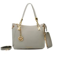 Michael Kors Shoulder Tote with Gray Leather