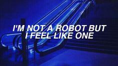aesthetic, blue, dark, feelings, glow, indie, neon, one, pale, quote, robot, sad, sky ferreira, tumblr, scream poems, blue theme