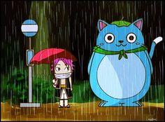 """Natsu y """"Mi vecino Happy"""" (Totoro)"""