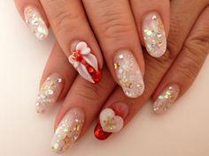 Selling heaps of kawaii handmade false nails (artificial nails) from Japan, inspired by current and upcoming Japanese fashion - Harajuku cute style Shellac Nail Designs, 3d Nail Designs, Shellac Nails, 3d Nails, Manicure, Nail Polish, Fancy Nails, Cute Nails, Kawaii Nail Art